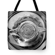 1962 Ghia L6.4 Coupe Wheel Emblem -2169bw Tote Bag