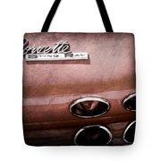 1965 Chevrolet Corvette Taillight Emblem Tote Bag