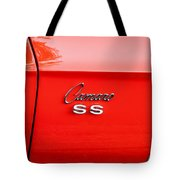 1969 Chevy Camaro Ss 396 Painted Tote Bag