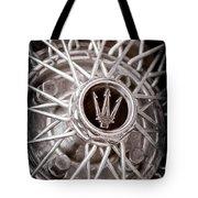 1972 Maserati Ghibli 4.9 Ss Spyder Wheel Emblem Tote Bag