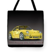 1997 Porsche  993 Twin Turbo Tote Bag