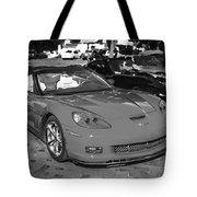 2010 Chevrolet Corvette Grand Sport Bw  Tote Bag