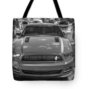 2013 Ford Mustang Gt Cs Painted Bw Tote Bag