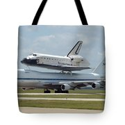 747 Carrying Space Shuttle Tote Bag