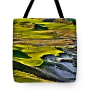 #9 At Chambers Bay Golf Course Tote Bag by David Patterson