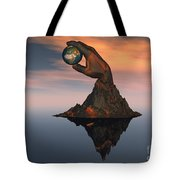 A 3d Conceptual Image Of The World Tote Bag