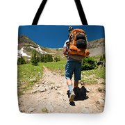 A Backpacker Hiking Tote Bag