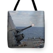 A Close-in Weapons System Is Fired Tote Bag