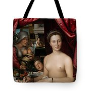 A Lady In Her Bath Tote Bag