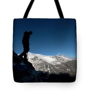 A Man Hikes The Boott Spur Link Tote Bag
