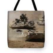 A Pair Of Israel Defense Force Merkava Tote Bag