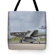 A Royal Saudi Air Force F-15c At Nancy Tote Bag