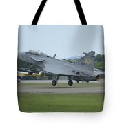 A Saab Jas 39 Gripen C Of The Royal Tote Bag