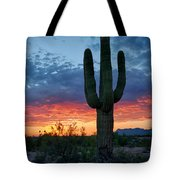 A Saguaro Sunset  Tote Bag