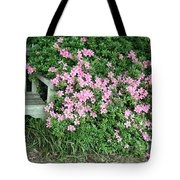 A Seat By The Flowers Tote Bag