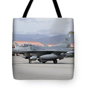 A U.s. Air Force F-16c Fighting Falcon Tote Bag