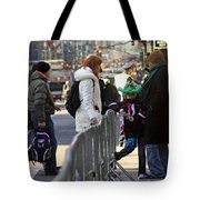 A View Of Some People Enjoying The 2009 New York St. Patrick Day Tote Bag