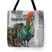 A Well Read Rooster Tote Bag