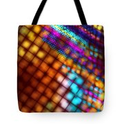 Abstract Checkered Pattern Fractal Flame Tote Bag
