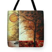 Abstract Gold Textured Landscape Painting By Madart Tote Bag