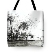 Modern Abstract Black Ink Art Tote Bag