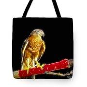 Accipiter Badius - Shikra Fractal Art Tote Bag