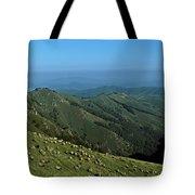 Aerial View Of Mountain Range Tote Bag