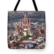 Aerial View Of San Miguel De Allende Tote Bag
