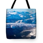 Aerial View Of Snowcapped Peaks In Bc Canada Tote Bag