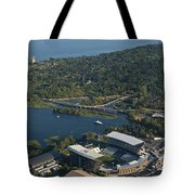Aerial View Of The New Husky Stadium Tote Bag