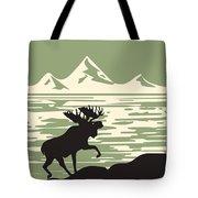 Alaska Denali National Park Poster Tote Bag