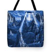 Alien Planet In Blue Tote Bag by Mike McGlothlen
