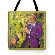 All That Jazz, Saxophone Tote Bag