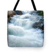 Alluvial Fan Falls On Roaring River In Rocky Mountain National Park Tote Bag