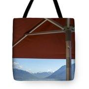Alpine Lake With Parasol Tote Bag
