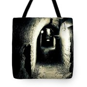 Altered Image Of A Tunnel In The Catacombs Of Paris France Tote Bag