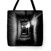 Altered Image Of A Tunnel Leading Out Of The Catacombs In Paris France Tote Bag