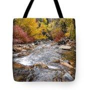 American Fork Canyon Creek In Autumn - Utah Tote Bag