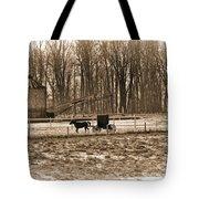 Amish Buggy And Corn Crib Tote Bag