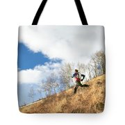 An Adult Male Trail Running Tote Bag