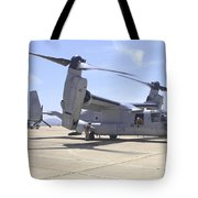 An Mv-22 Osprey Taxiing At Marine Corps Tote Bag
