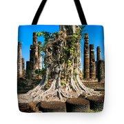 Ancient Temple Ruins Tote Bag