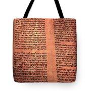 Ancient Torah Scrolls From Yemen  Tote Bag