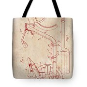 Antique Motorcycle Patent 1921 Tote Bag