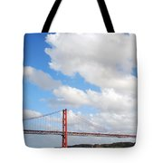 April Bridge In Lisbon Tote Bag