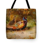 Autumn Covert Pheasants Tote Bag