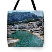 Arrival To Capri  Tote Bag