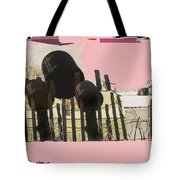 Art Homage Andrew Wyeth Bucket Fence Collage Near Aberdeen South Dakota 1965-2012 Tote Bag