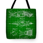 Artificial Bait Patent 1923 - Green Tote Bag