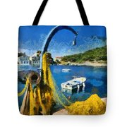 Asos Village In Kefallonia Island Tote Bag